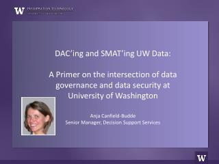 UW Data Map (aligns business and data perspectives)