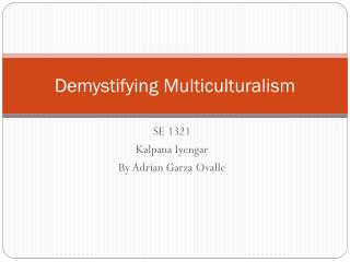 Demystifying Multiculturalism
