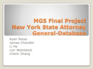 MGS Final Project  New York State Attorney General-Database