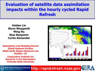 Evaluation of satellite data assimilation impacts within the hourly cycled Rapid Refresh