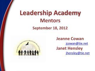 Leadership Academy Mentors