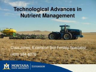 Technological Advances in Nutrient Management