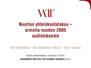 Nuorten yhteiskuntatakuu – arvioita vuoden 2005  uudistuksesta