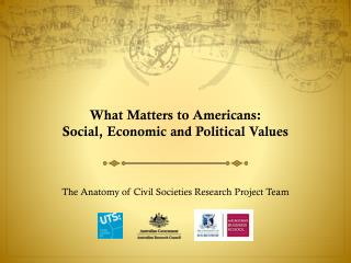 What Matters to Americans:  Social, Economic and Political Values