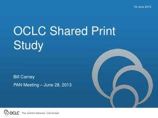 OCLC Shared Print Study