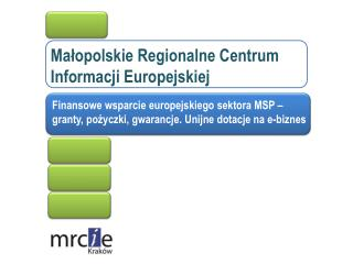 Małopolskie Regionalne Centrum Informacji Europejskiej