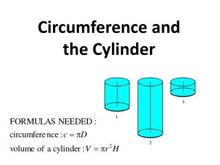 Circumference and the Cylinder