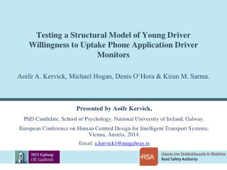 Testing a Structural Model of Young Driver Willingness to Uptake Phone Application Driver Monitors