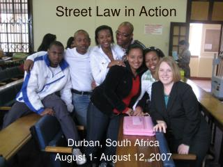 Street Law in Action