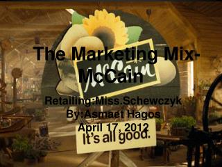 The Marketing Mix-McCain