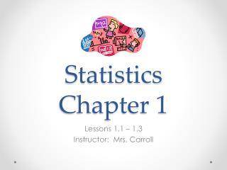 Statistics  Chapter 1