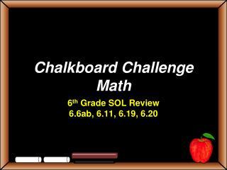 Chalkboard Challenge Math