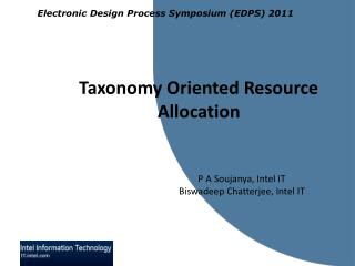 Taxonomy Oriented  Resource Allocation