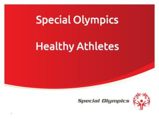 Special Olympics Healthy Athletes