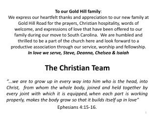 The Christian Team