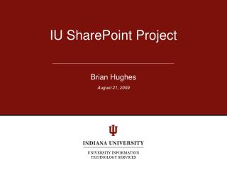 IU SharePoint Project