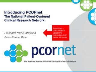 Introducing PCORnet: The National Patient-Centered  Clinical Research Network