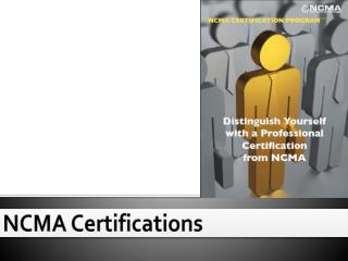 NCMA Certifications