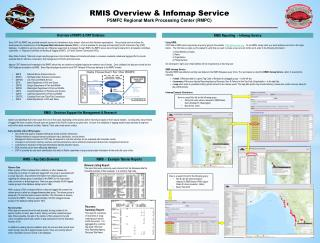 RMIS Overview & Infomap Service PSMFC Regional Mark Processing Center (RMPC)