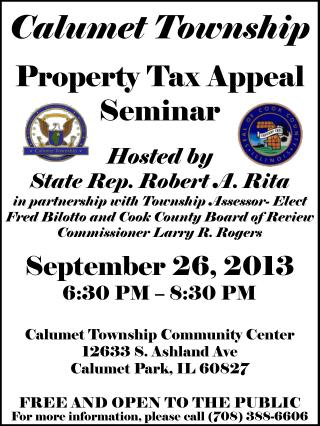 Property Tax Appeal Seminar