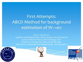 First Attempts: ABCD Method for background estimation of  W→e ν