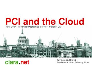 PCI and  the Cloud