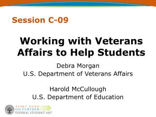 Working with Veterans Affairs to Help Students