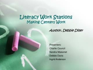 Literacy Work Stations  Making Centers Work