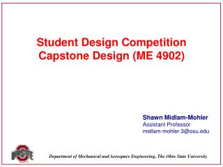 Student Design Competition Capstone  Design (ME  4902)