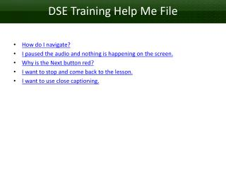 DSE Training Help Me  File