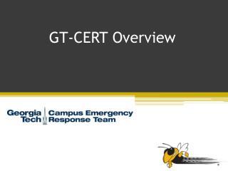 GT-CERT Overview