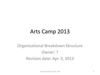 Arts Camp 2013