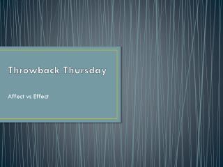 Throwback Thursday
