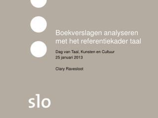 Boekverslagen analyseren met het referentiekader taal