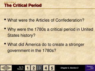 S E C T I O N  3 The Critical Period