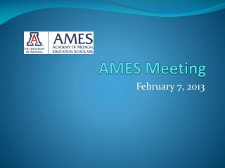 AMES Meeting
