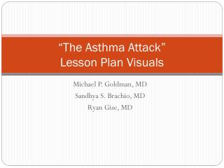 """""""The Asthma Attack"""" Lesson Plan Visuals"""