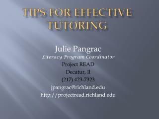 Tips for Effective tutoring
