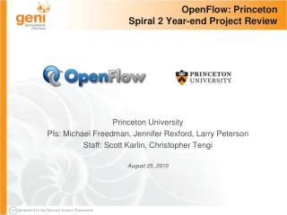 OpenFlow: Princeton Spiral 2 Year-end Project Review