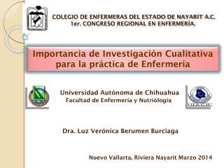 Universidad Autónoma de Chihuahua Facultad de Enfermería y Nutriología