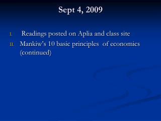 Sept 4, 2009