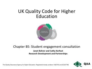 The Quality Assurance Agency for Higher Education. Registered charity numbers 1062746 and SC037786