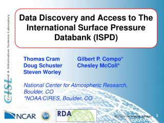 Data Discovery and Access to The International Surface Pressure Databank (ISPD)