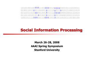 Social Information Processing