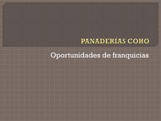 PANADERÍAS COHO