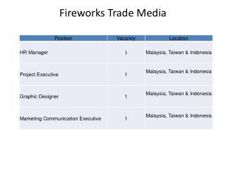 Fireworks Trade Media