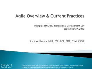 Scott W. Barnes, MBA, PMI-ACP, PMP, CSM, CSPO