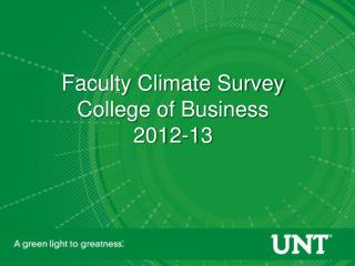 Faculty Climate Survey College of Business 2012-13