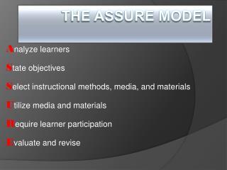 The ASSURE Model