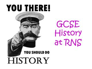 GCSE History at RNS